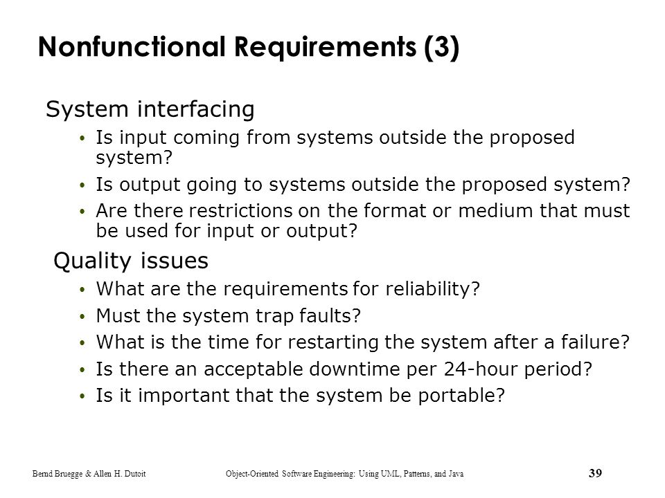 Nonfunctional Requirements (3)