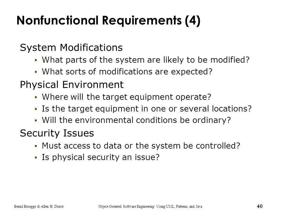 Nonfunctional Requirements (4)