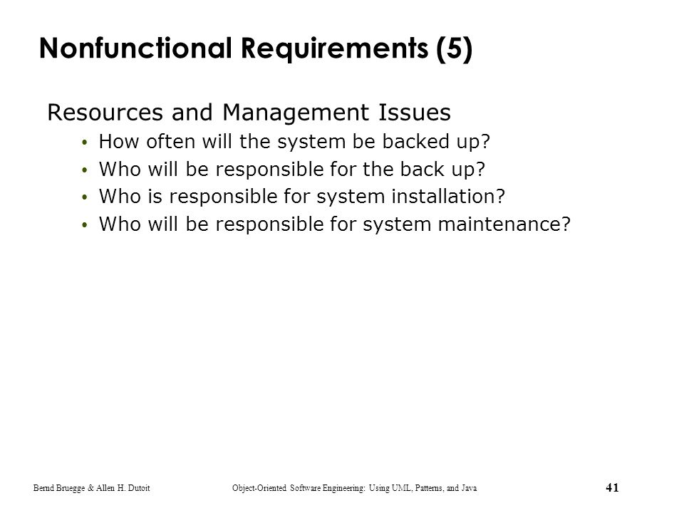 Nonfunctional Requirements (5)