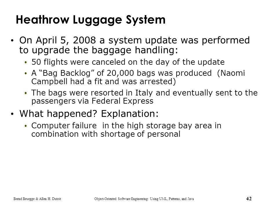 Heathrow Luggage System
