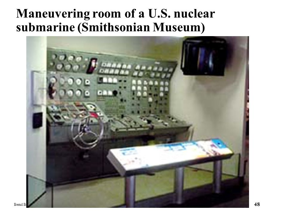 Maneuvering room of a U.S. nuclear submarine (Smithsonian Museum)