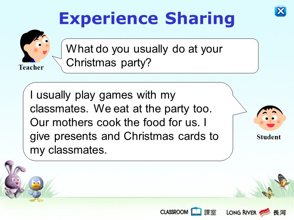 Experience Sharing What do you usually do at your Christmas party