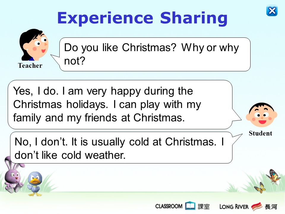 Experience Sharing Do you like Christmas Why or why not