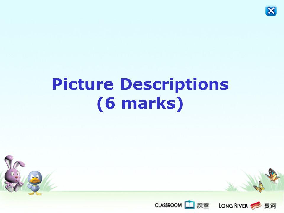 Picture Descriptions (6 marks)