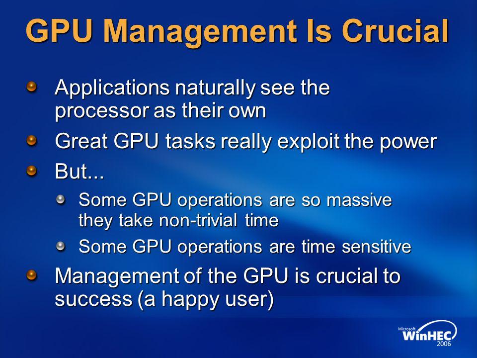 GPU Management Is Crucial