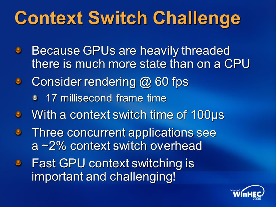 Context Switch Challenge