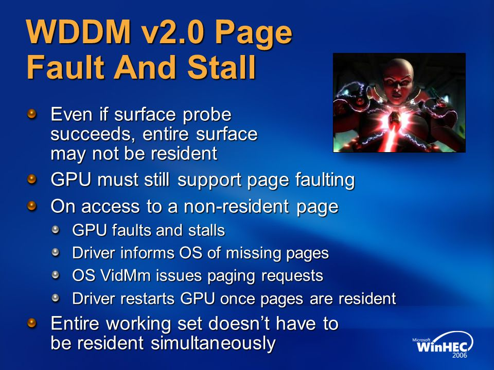 WDDM v2.0 Page Fault And Stall