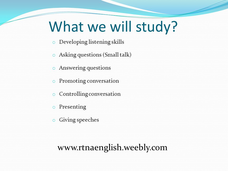 What we will study www.rtnaenglish.weebly.com