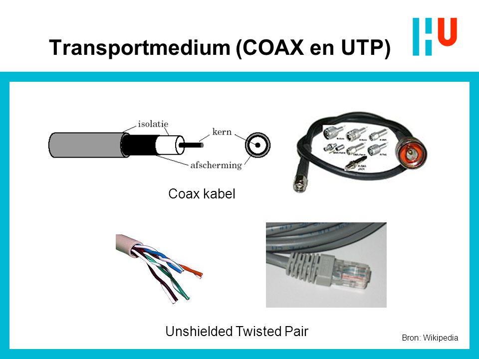 Transportmedium (COAX en UTP)
