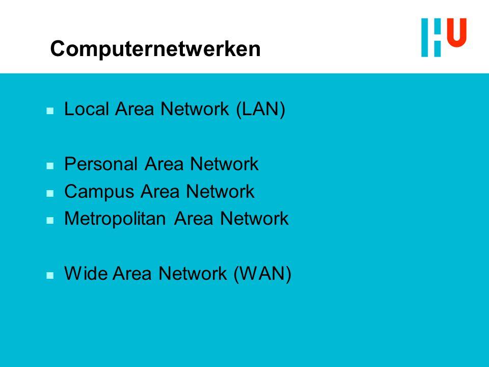 Computernetwerken Local Area Network (LAN) Personal Area Network