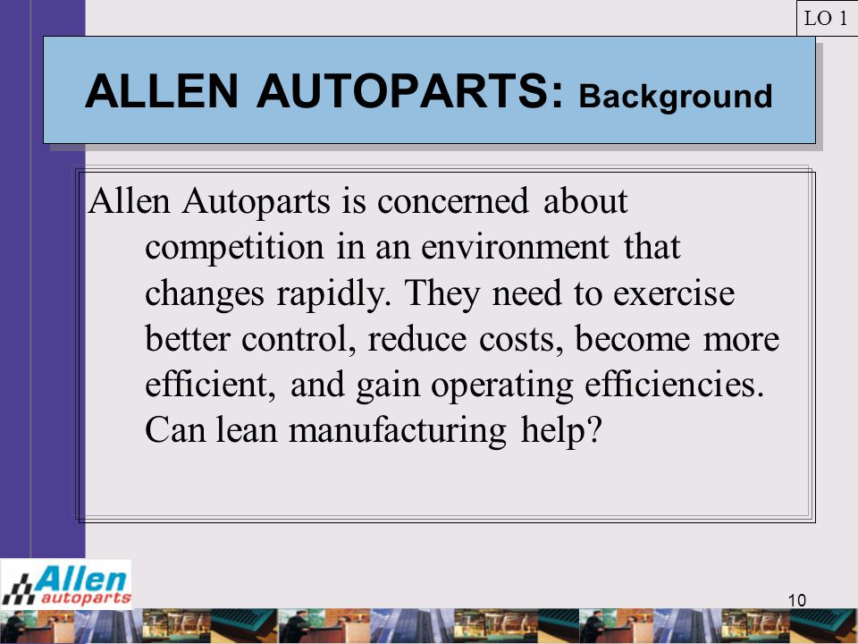 ALLEN AUTOPARTS: Background