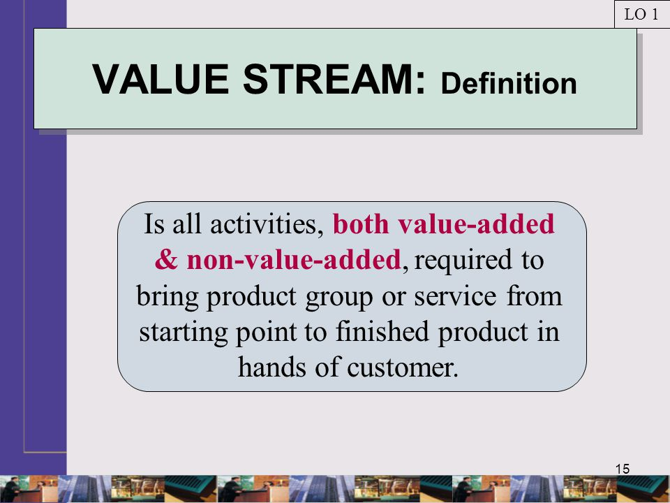 VALUE STREAM: Definition