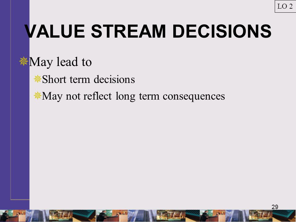 VALUE STREAM DECISIONS