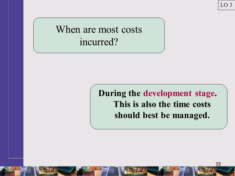 When are most costs incurred