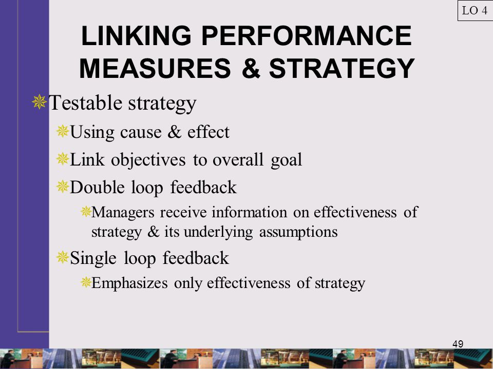 LINKING PERFORMANCE MEASURES & STRATEGY