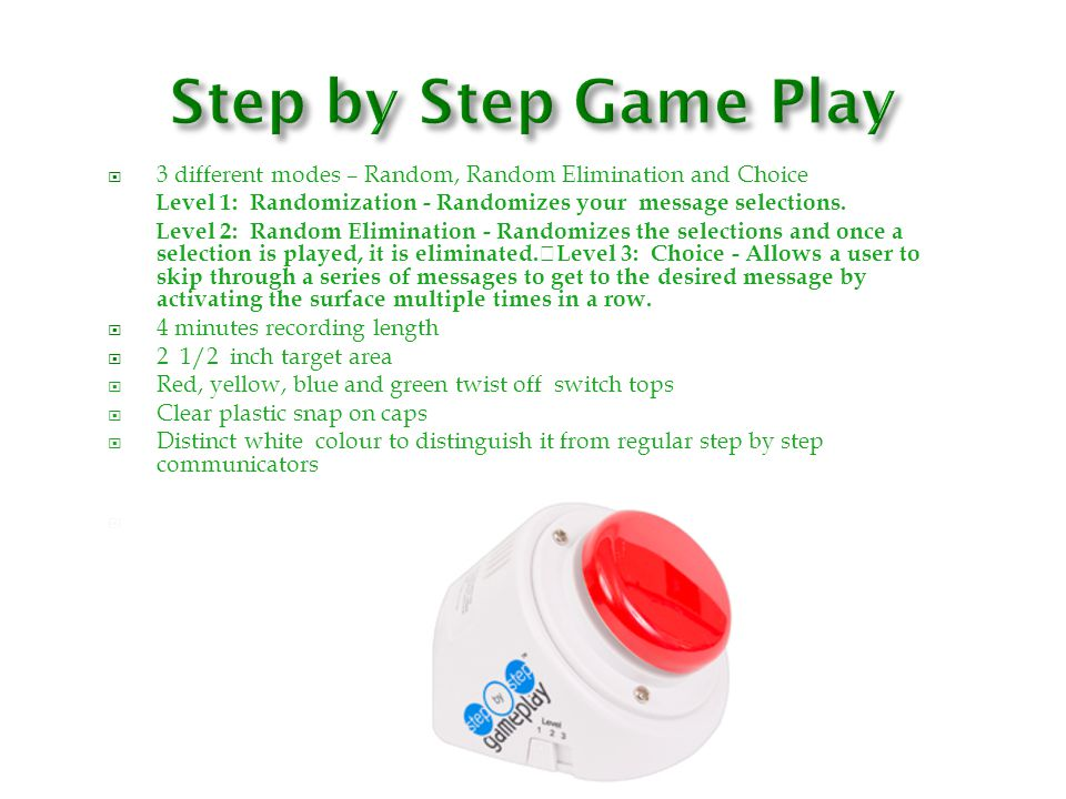 Step by Step Game Play N/itch jack for. 3 different modes – Random, Random Elimination and Choice.