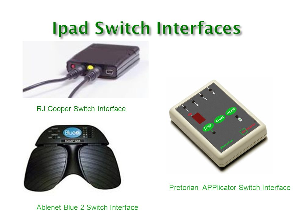 Ipad Switch Interfaces