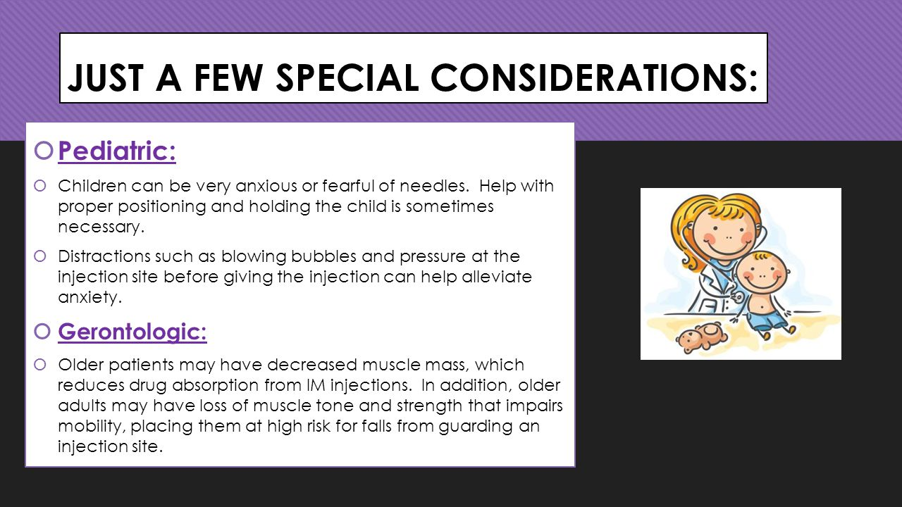 JUST A FEW SPECIAL CONSIDERATIONS: