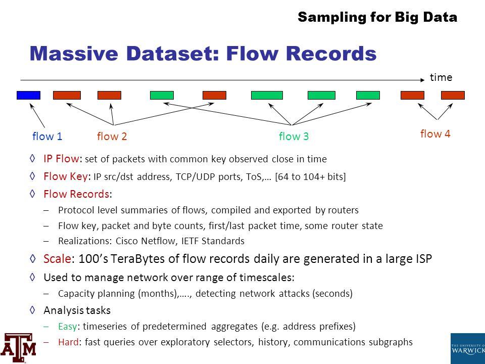 Massive Dataset: Flow Records