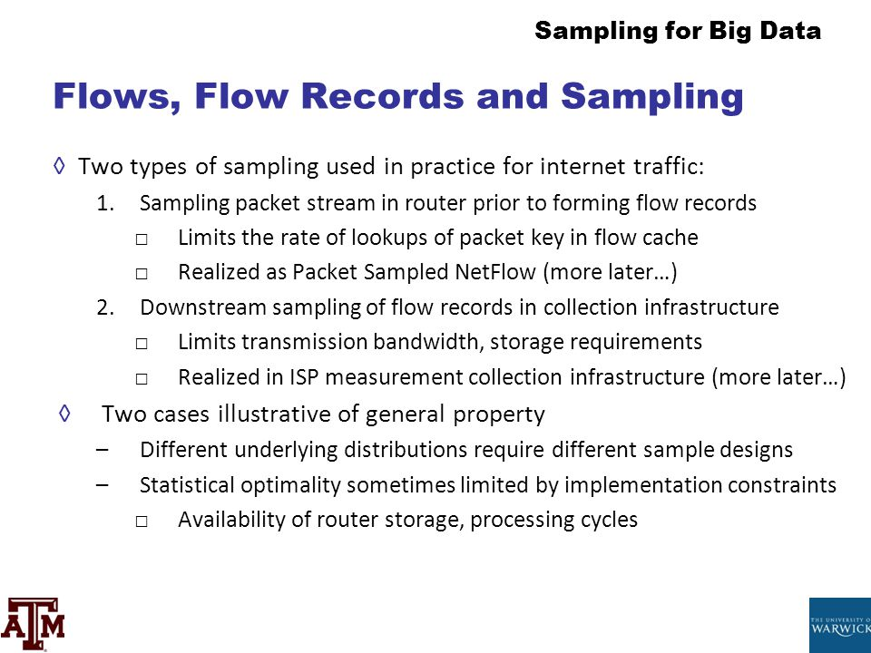 Flows, Flow Records and Sampling