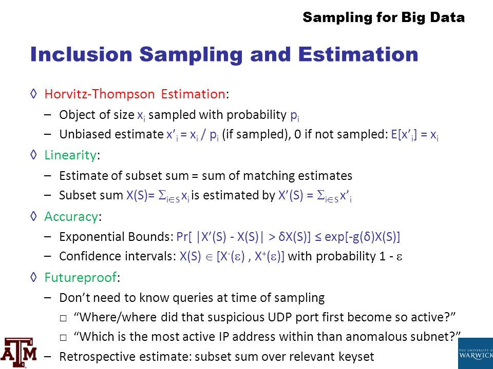 Inclusion Sampling and Estimation