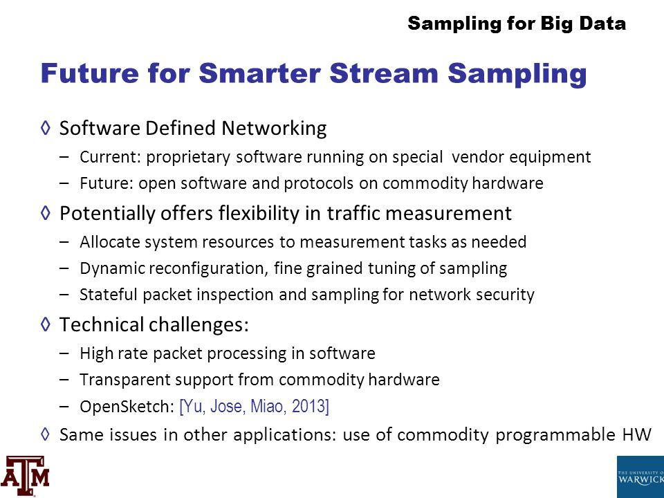 Future for Smarter Stream Sampling