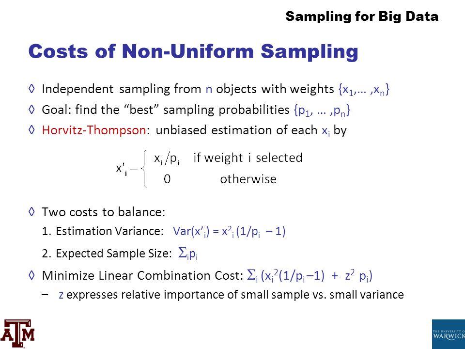 Costs of Non-Uniform Sampling