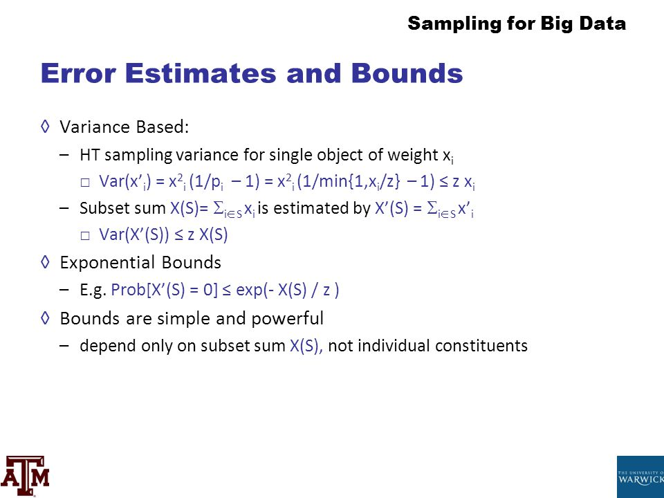 Error Estimates and Bounds
