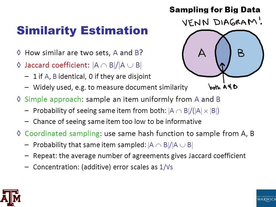 Similarity Estimation