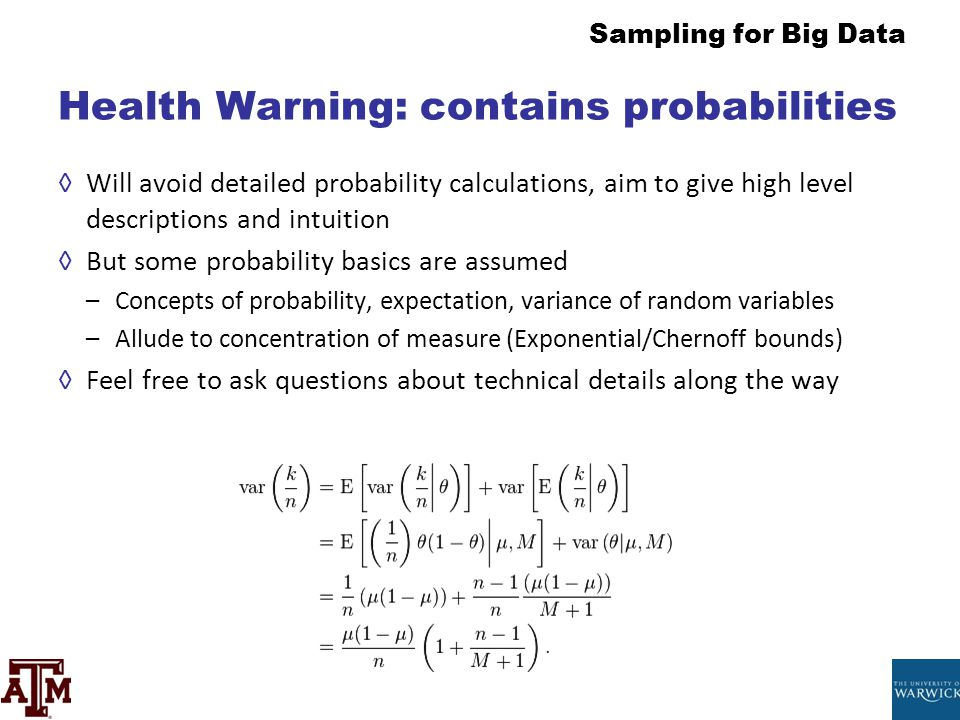 Health Warning: contains probabilities