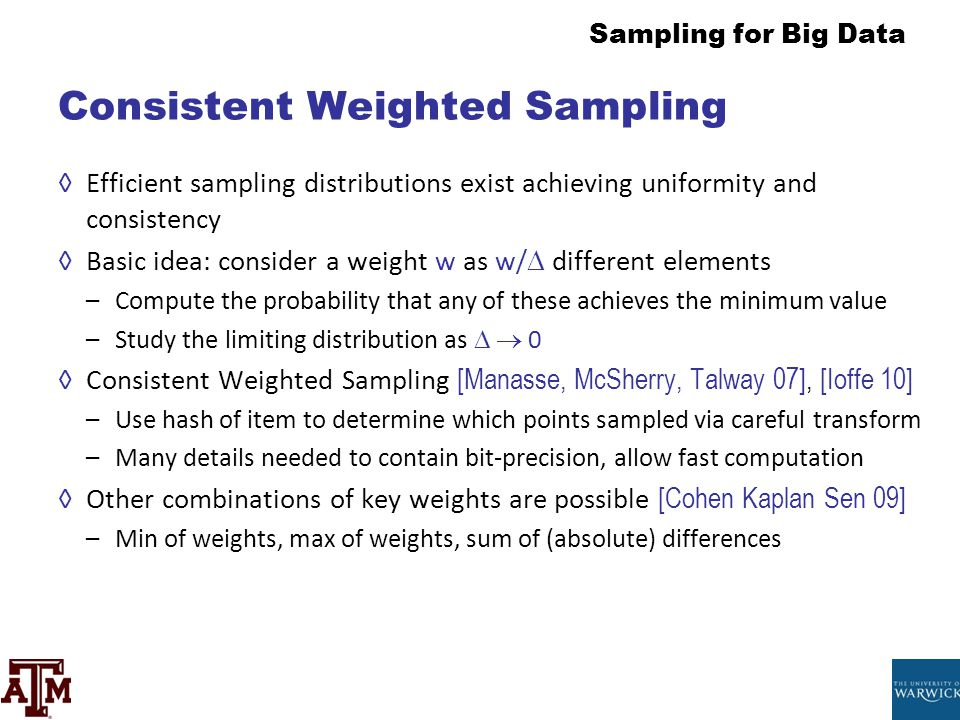 Consistent Weighted Sampling