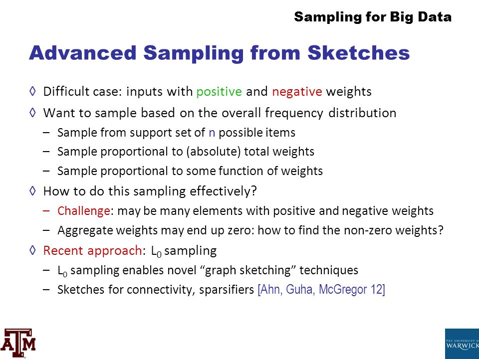 Advanced Sampling from Sketches
