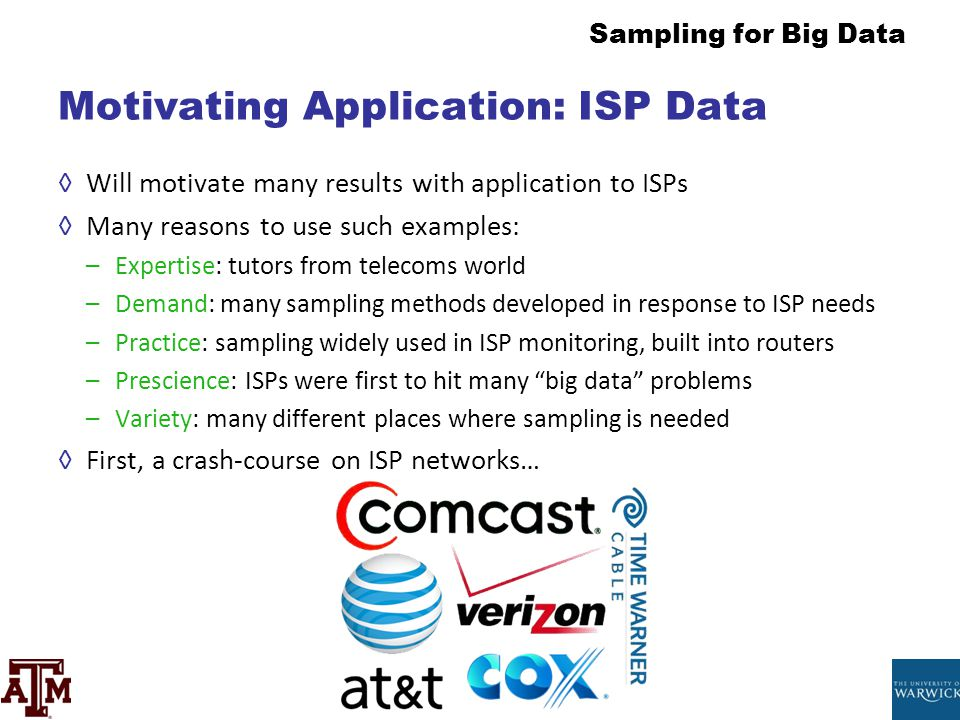 Motivating Application: ISP Data