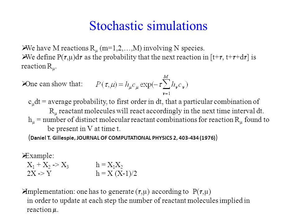 Stochastic simulations