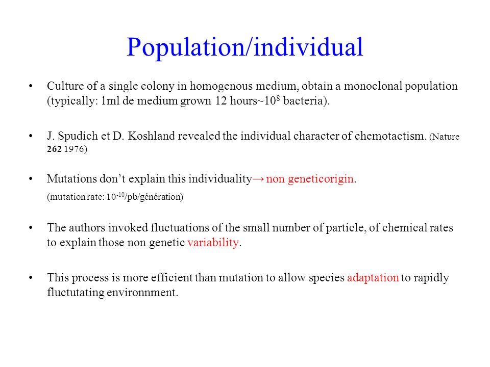 Population/individual