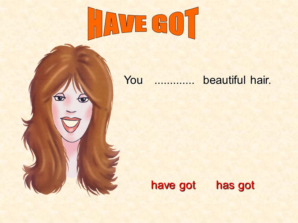 HAVE GOT You ............. beautiful hair. have got has got