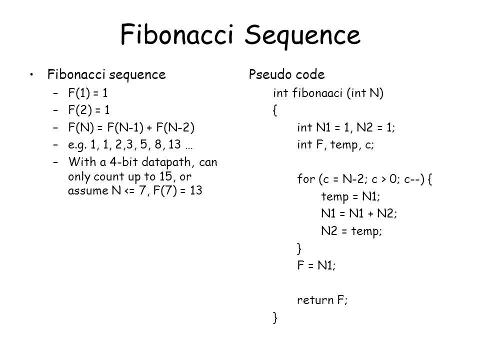 Fibonacci Sequence Fibonacci sequence Pseudo code F(1) = 1 F(2) = 1