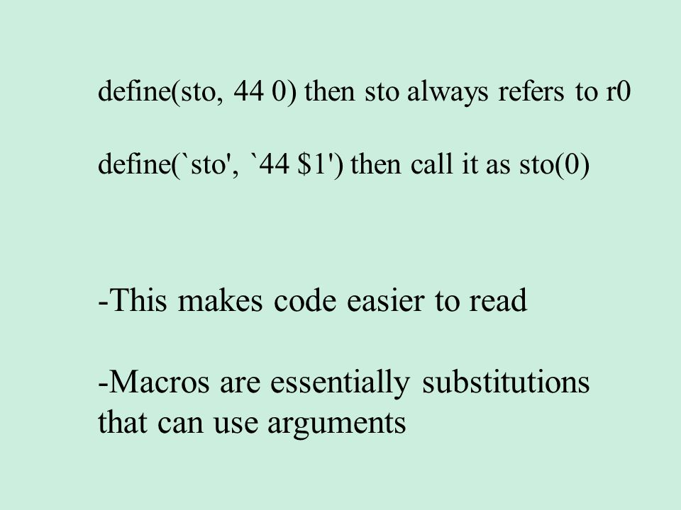 This makes code easier to read