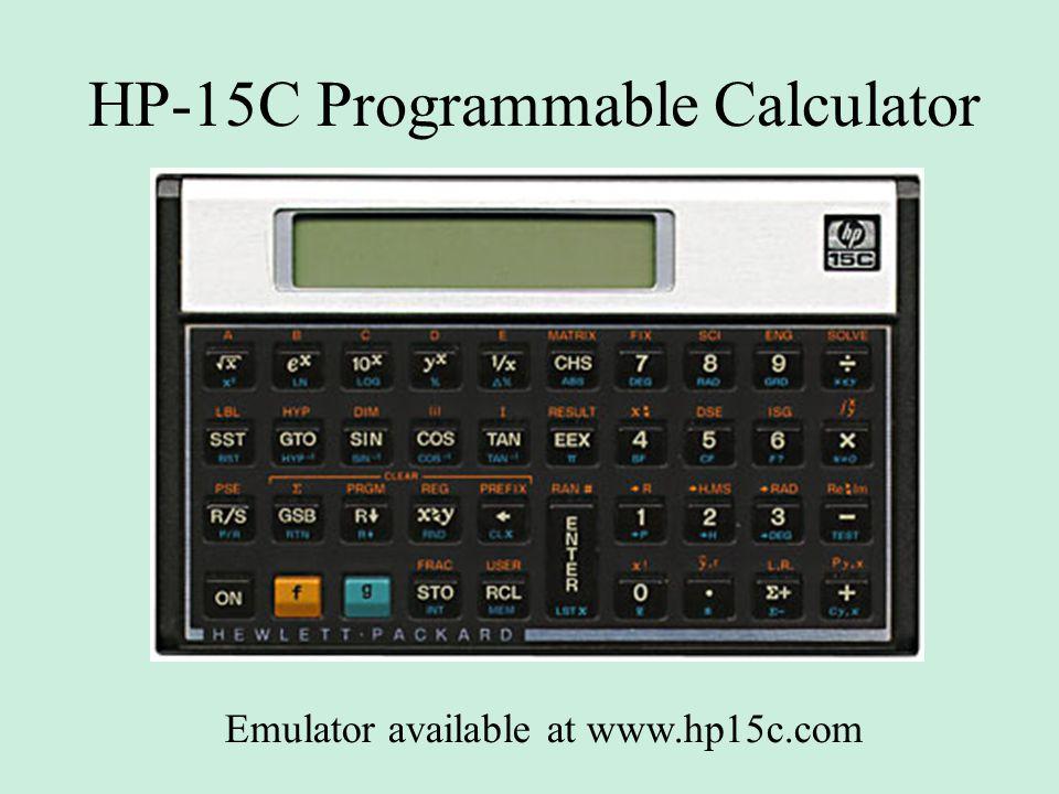 HP-15C Programmable Calculator