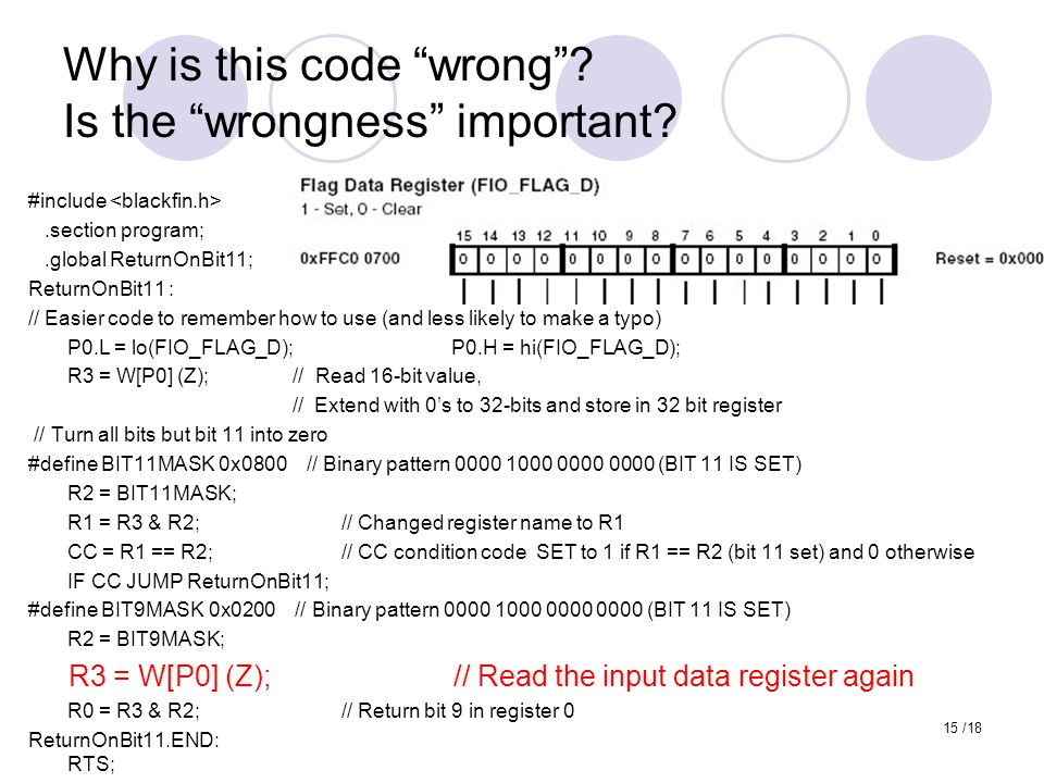 Why is this code wrong Is the wrongness important