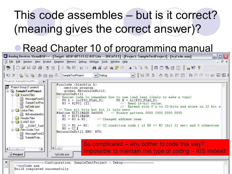 This code assembles – but is it correct