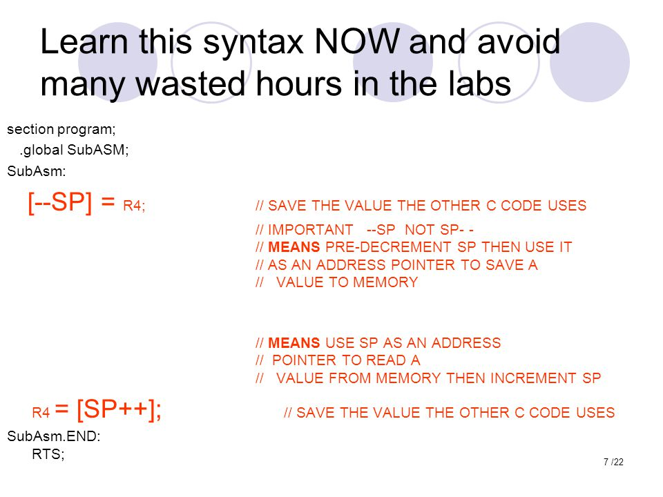 Learn this syntax NOW and avoid many wasted hours in the labs