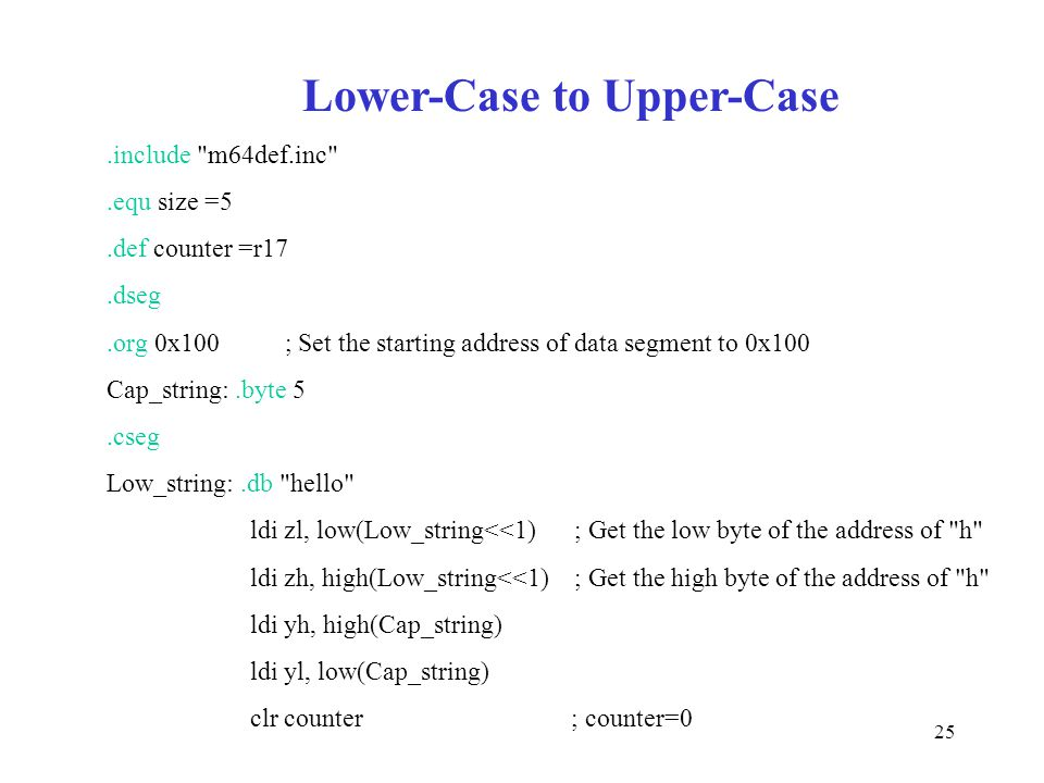 Lower-Case to Upper-Case