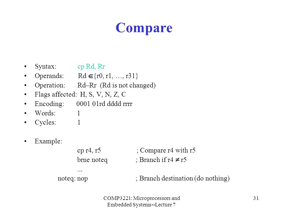 COMP3221: Microprocessors and Embedded Systems--Lecture 7