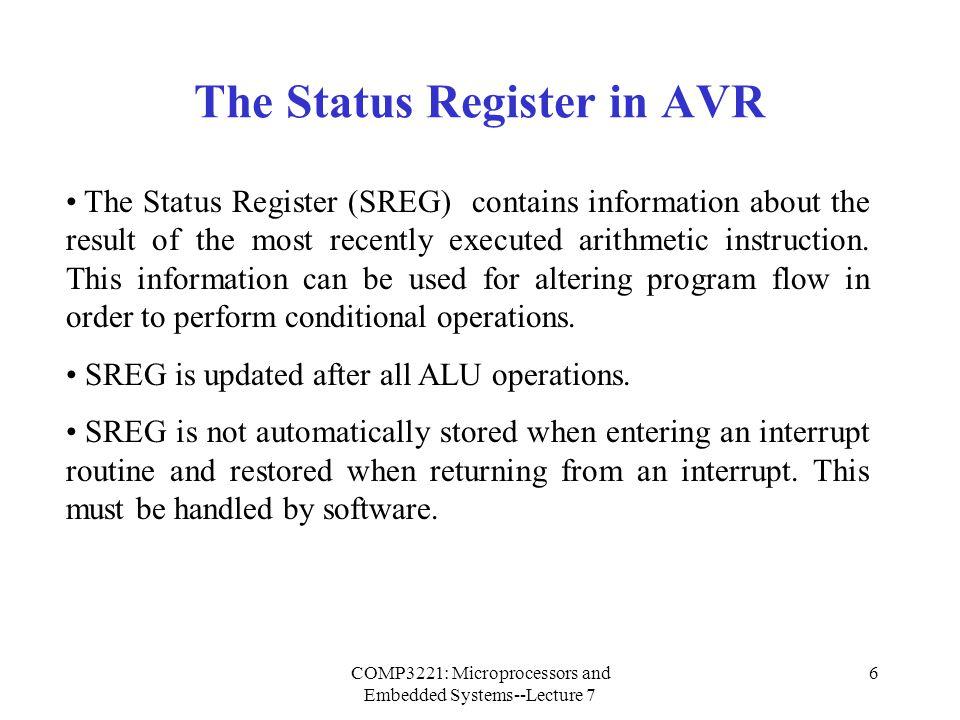 The Status Register in AVR