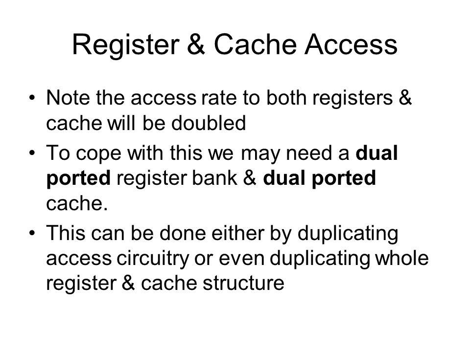 Register & Cache Access