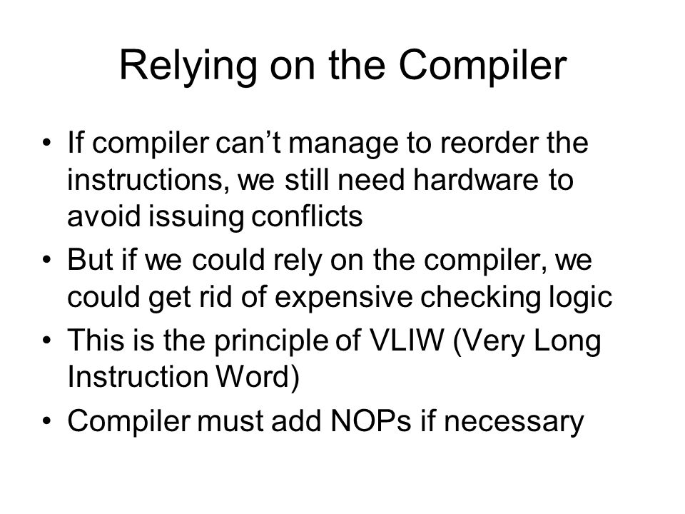 Relying on the Compiler