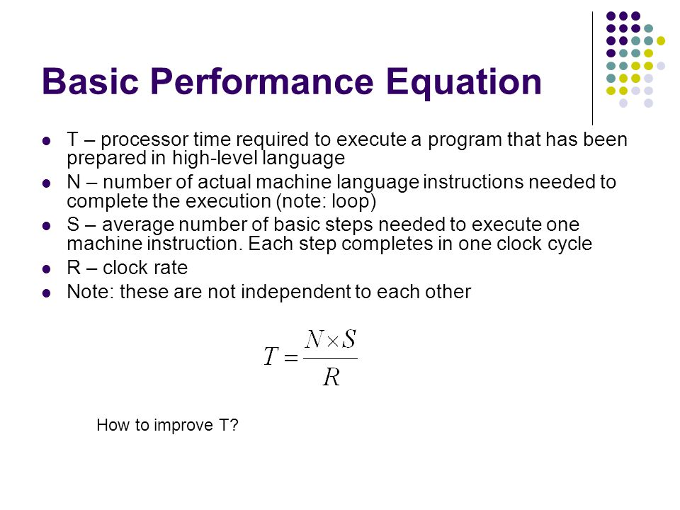 Basic Performance Equation