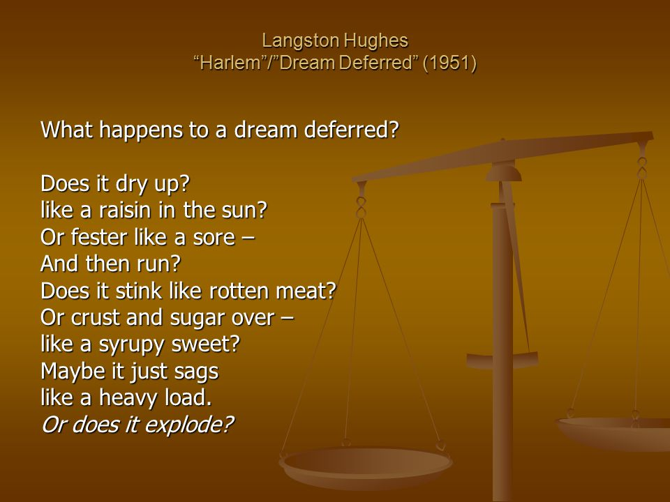 Langston Hughes Harlem / Dream Deferred (1951)