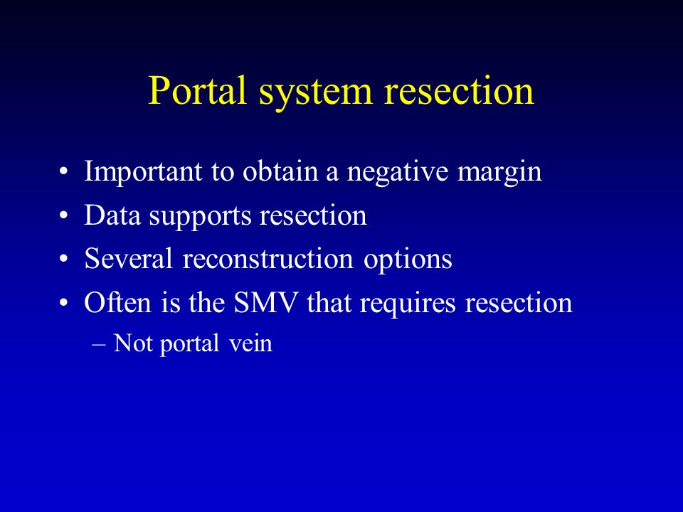 Portal system resection